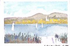 Sailboats on New England Lake