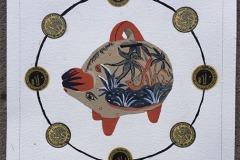 Tonala Piggy Bank and Pesos